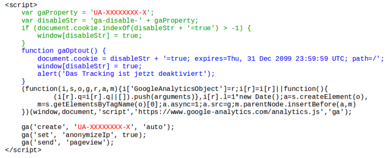 Screenshot Tracking unterbinden