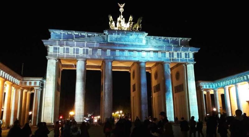 """Brandenburger Tor im """"Festival of Lights"""" 2017"""
